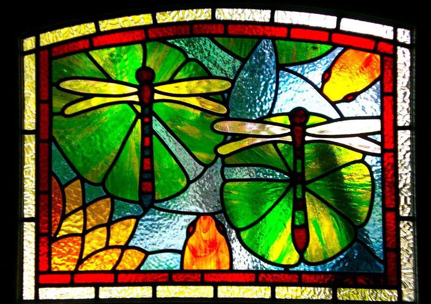 glas in lood, raam decor, suriname, glasdecor