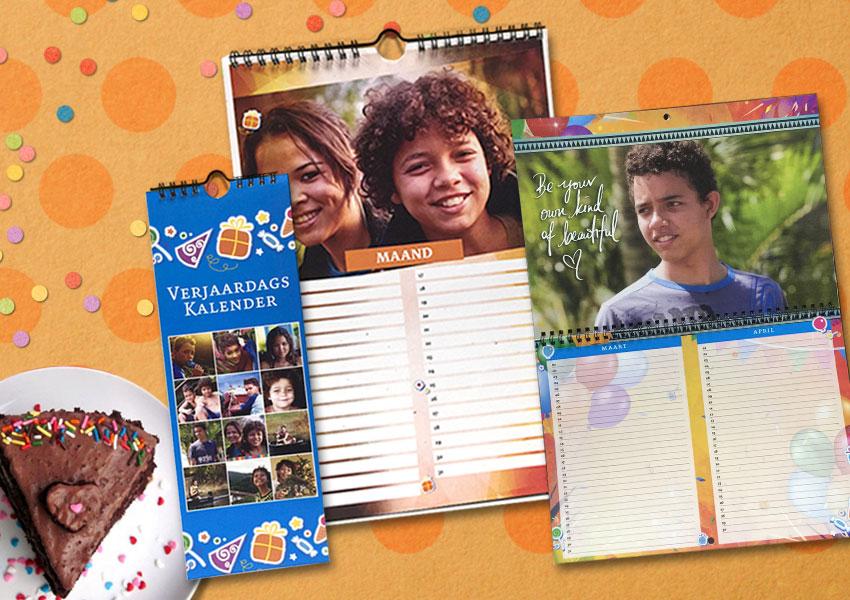 verjaardags kalenders suriname, foto kalenders, gepersonaliseerde verjaardags kalender