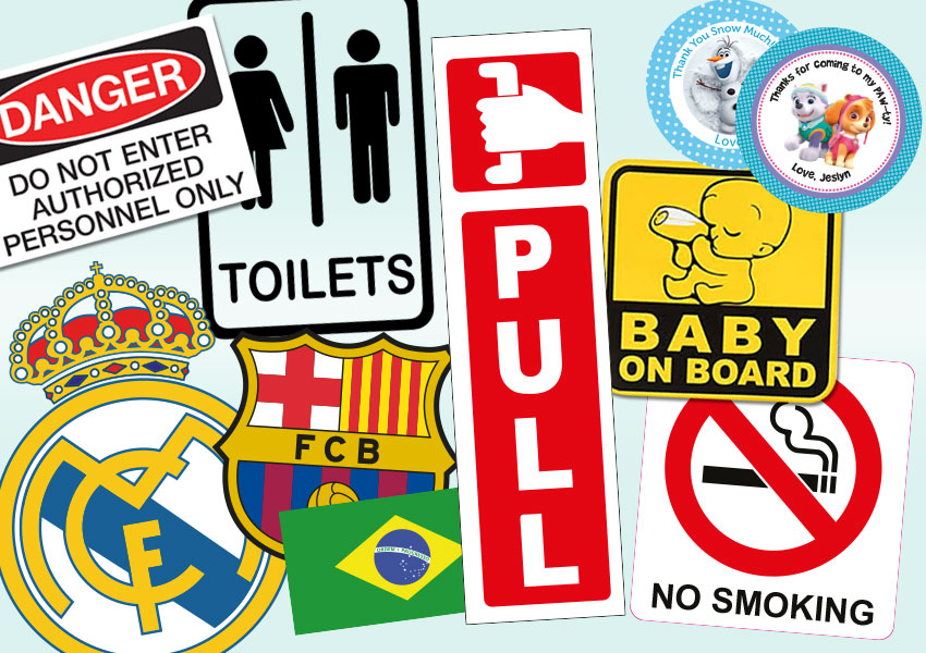 stickers, gepersonaliseerde stickers, autostickers, suriname