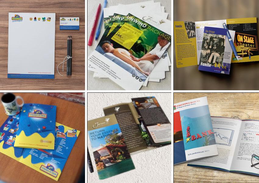 digitale pirnts suriname, brochures, flyers, posters, boekjes, visitekaarten, suriname, jaarverslagen printen